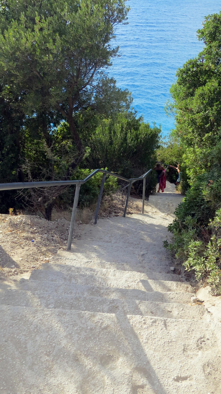 Stairs to Egremni Beach