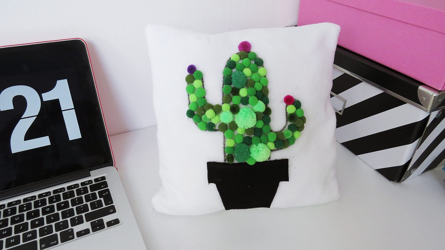 DIY Pompom Cactus Pillow