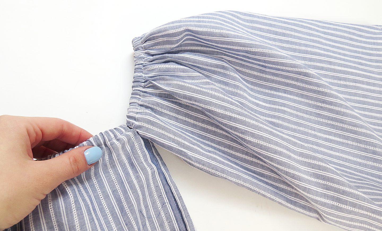 DIY Off The Shoulder Top – Sewing Tutorial + VIDEO
