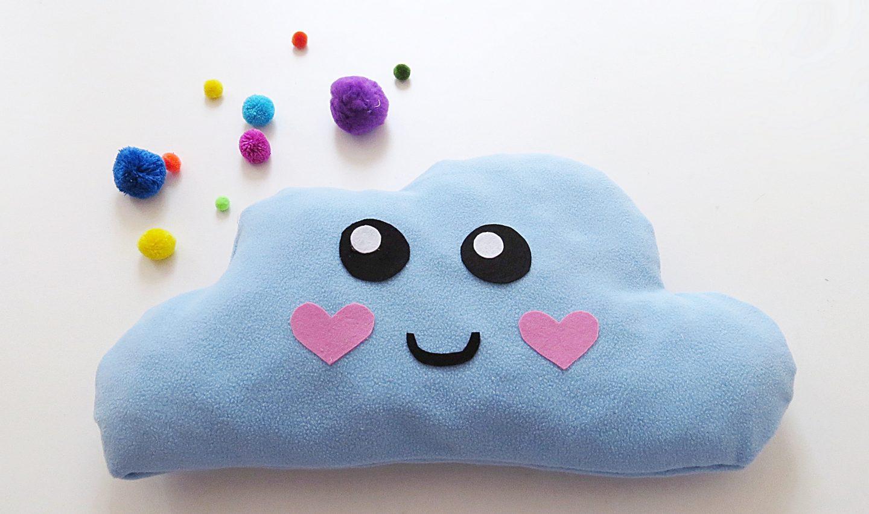 DIY No Sew Cloud Pillow   Video Tutorial