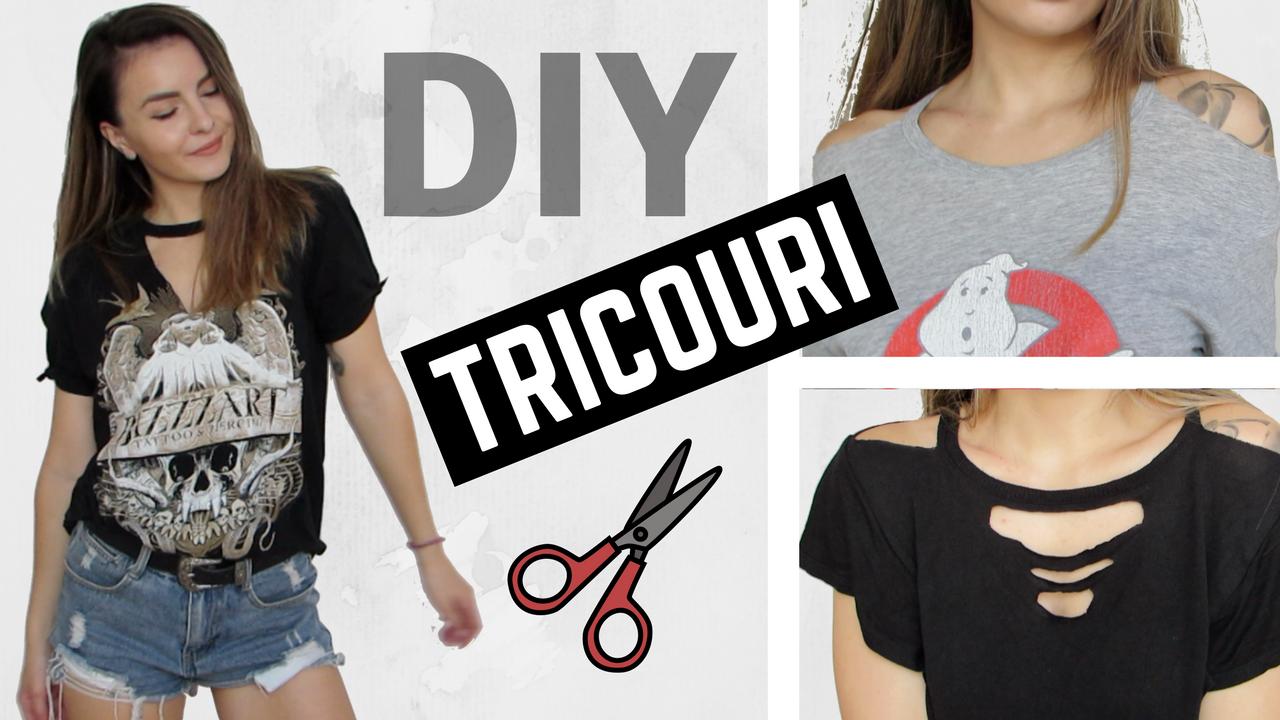 DIY Tricouri taiate ✂️  Cum sa iti transformi tricourile