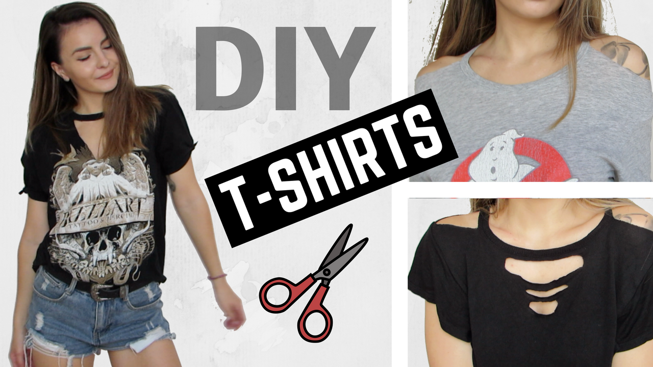 DIY Distressed Cut Out T-Shirts ✂️