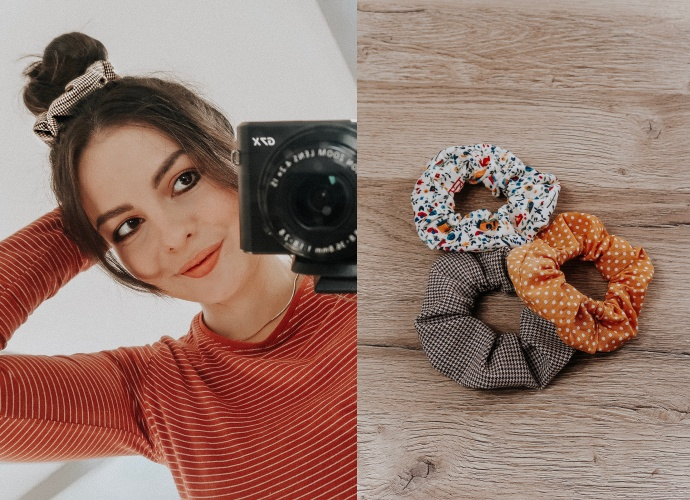 DIY Scrunchies from leftover fabric